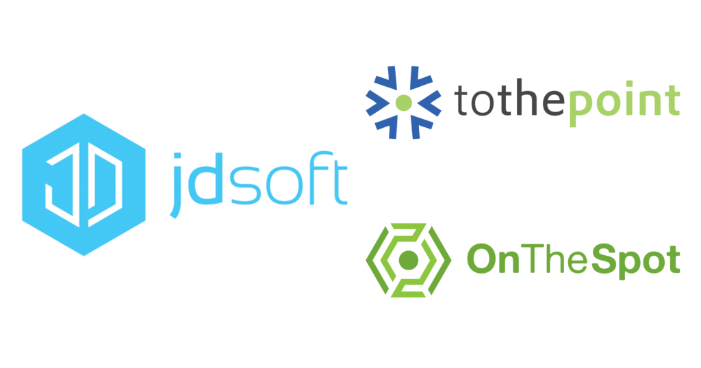 Logo JdSoft next to Logo ToThePoint and OnTheSpot