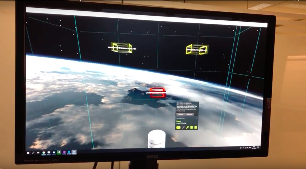 Steam VR and Unity used to visualise a HTTP request