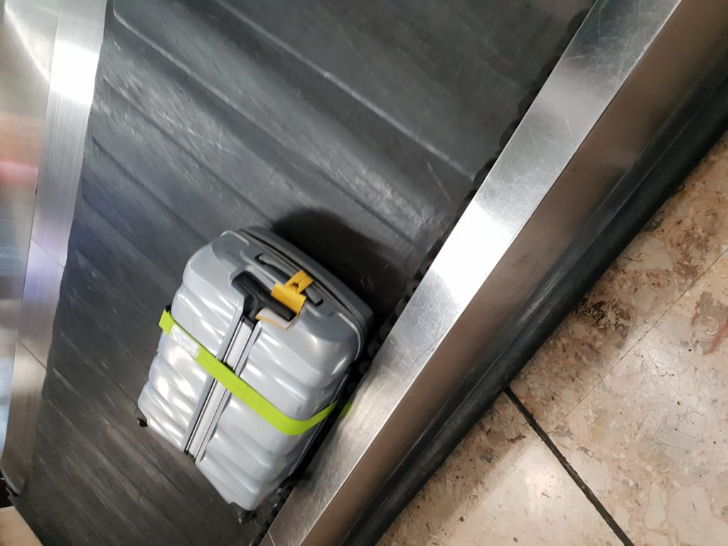What a beautiful sight to see my luggage at the claiming belt.