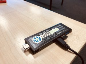 This INTEL© compute stick is sponsored by ToThePoint and set up with a Continuous Integration pipeline software build