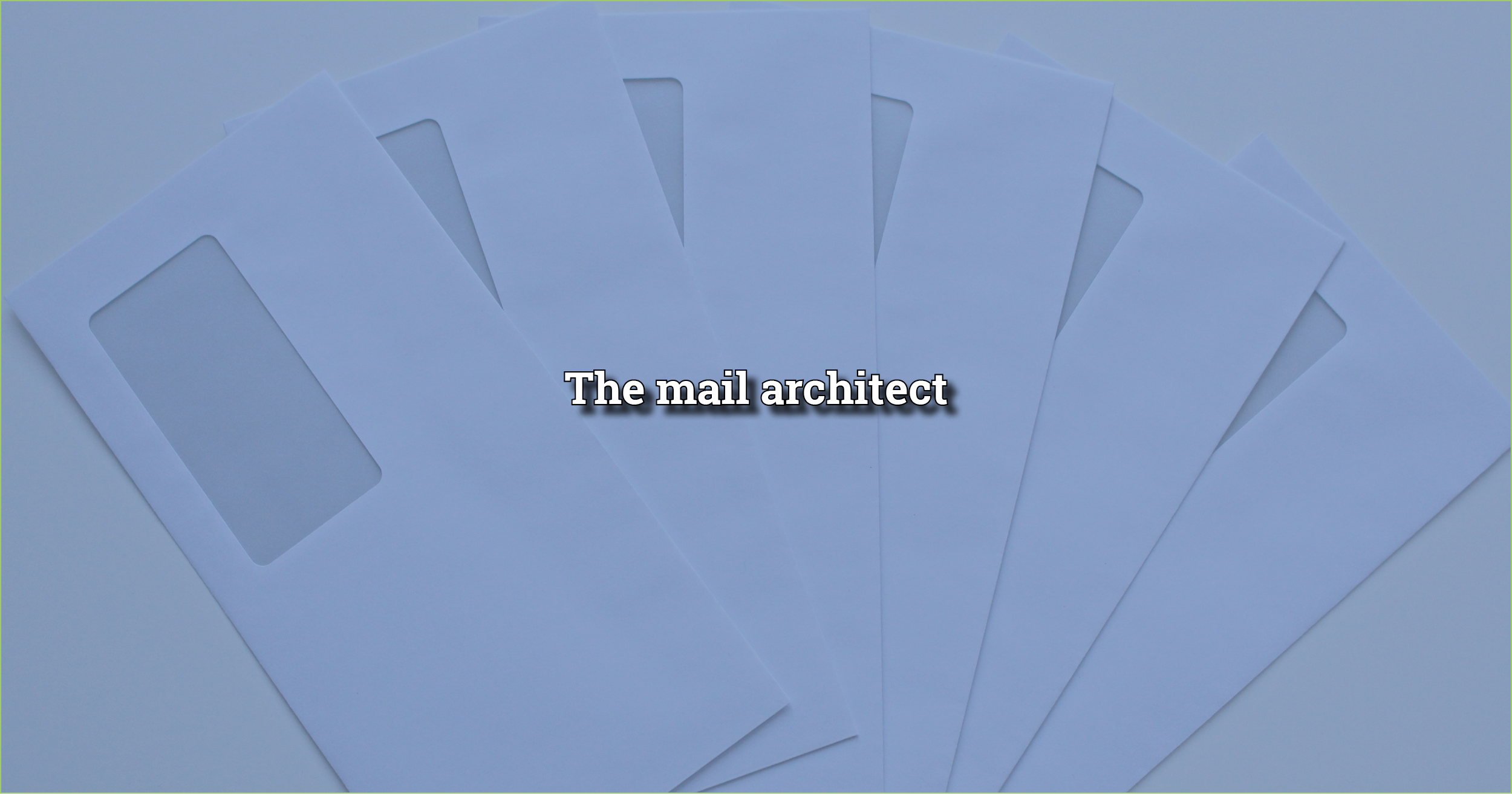 The mail Architect is used as an example to showcase what it means to be an evolutionary architect
