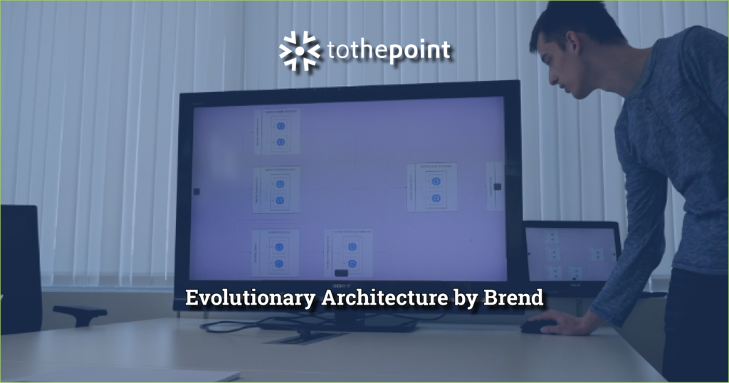 Brend, Evolutionary Architect prodigy showing his architecture during a demo of his progress at his SpotOps internship at ToThePoint