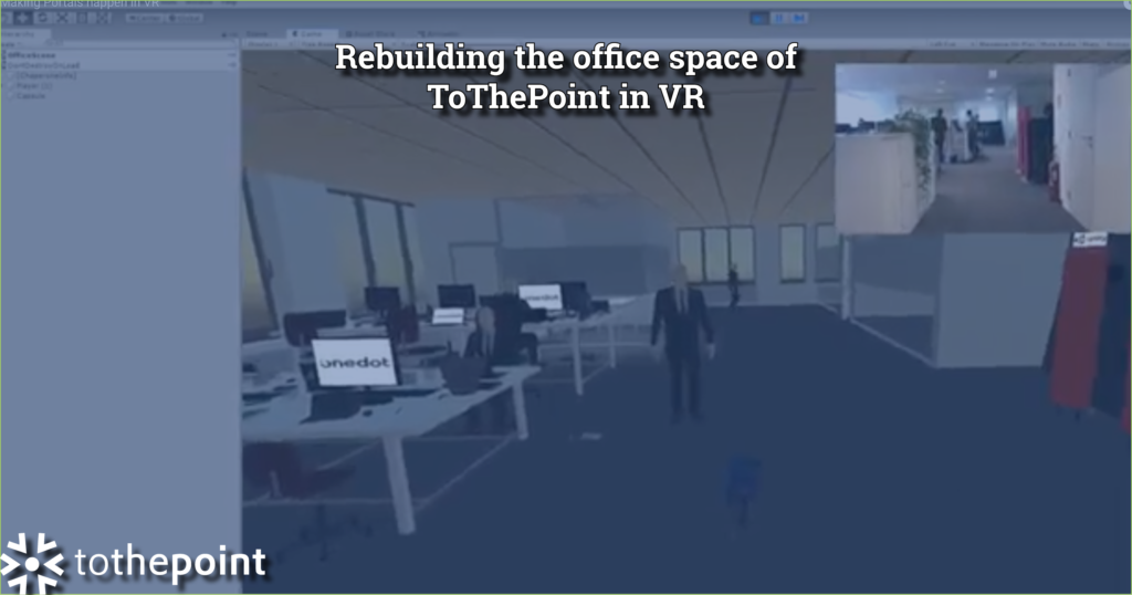 rebuilding office space in VR by Robin and Lino VR masters at ToThePoint