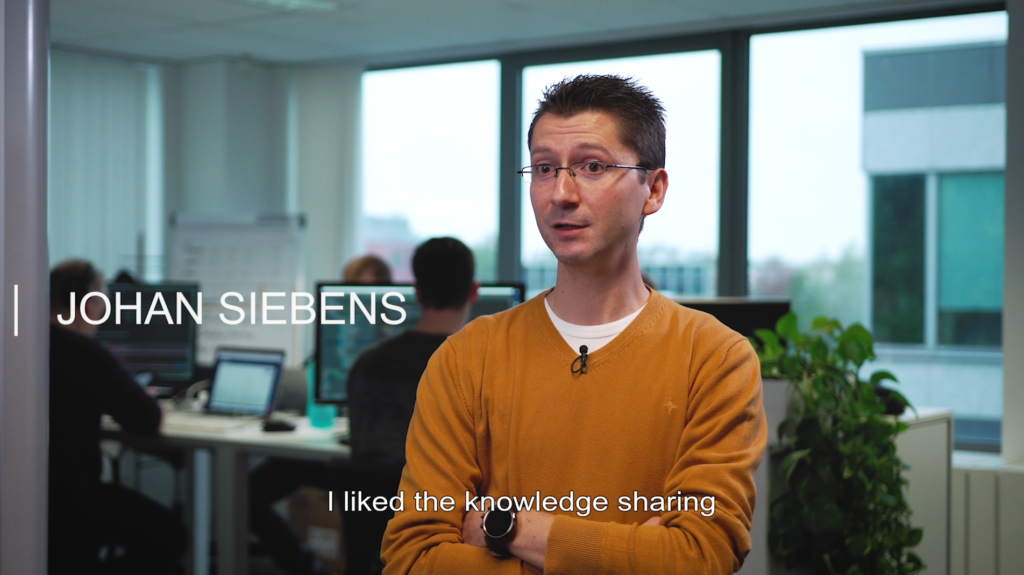 Evolutionary Architect Johan Siebens explaining why he started working at ToThePoint
