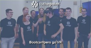 ToThePoint bootcamp members posing for a photo